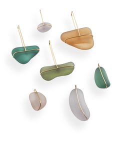 Delphine Nardin // beach glass jewellery chic with simple gold settings
