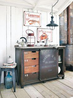 Muebles de estilo industrial para la cocina