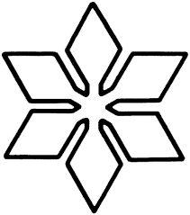 """Résultat de recherche d'images pour """"flocon de neige coloriage"""""""