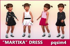 Martika dress at Toddler Cc Sims 4, Sims 4 Toddler Clothes, Sims Baby, Toddler Outfits, Kids Outfits, Sims 4 Cc Skin, Sims Cc, Sims 4 Mods, Kids Bathing Suits