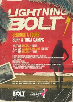 In 2014 SenhoRita Tours invites you to 3 surf & yoga camps at 2 stunning locations (Sponsored by Lightning Bolt)  Check it Out : http://www.senhoritatours.com/