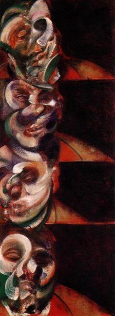 Francis Bacon,  Four Studies for a Self-Portrait, 1965.