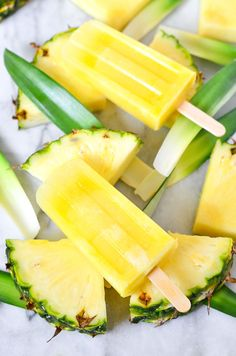 Refreshing and delicious Pineapple Lemonade Ice Pops! Make them fresh and healthy right at home for quick family friendly dessert!