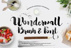 Wonderwall Font & Alphabetical Brush
