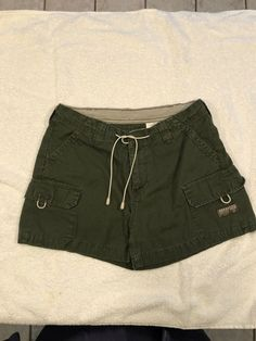 5d7ff399f1 Details about Jordache Cargo Hiking Shorts size 7/8 olive green