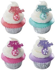 Mothers Day Cupcake Picks  12 pcs *** Continue to the product at the image link.