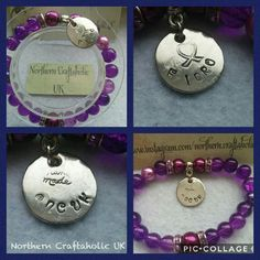 Fibromyalgia, Pearl Beads, Hand Stamped, Washer Necklace, Etsy Seller, Pearls, Personalized Items, Trending Outfits, Unique Jewelry