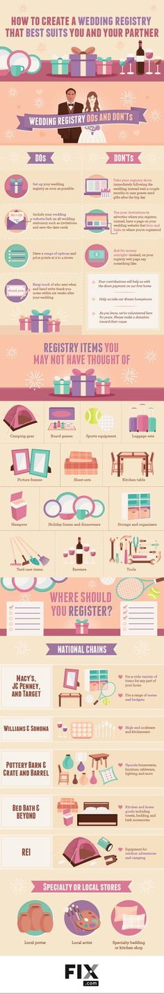 Advice: Wedding Registry Do's and Dont's