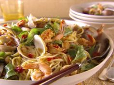 Spaghetti with Pinot Grigio and Seafood from CookingChannelTV.com