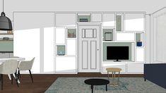 Maatwerk ontwerp voor meubels in 3D   Interieur design by nicole & fleur Divider, Room, Furniture, Design, Home Decor, Bedroom, Decoration Home, Room Decor, Rum