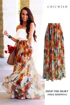 BOHO Fashion Womens Casual Floral Jersey Gypsy Long Maxi Full Skirt Su – geekbuyig Gender: Women Decoration: None Dresses Length: Ankle-Length Waistline: Empire Pattern Type: Floral Style: Casual Brand Name: Thefound Material: Chiffon Silhouette: A-Line Maxi Skirt Outfits, Long Maxi Skirts, Boho Skirts, Cute Skirts, Casual Skirts, Dress Skirt, Long Floral Skirts, Maxi Skirt Outfit Summer, Long Summer Skirts