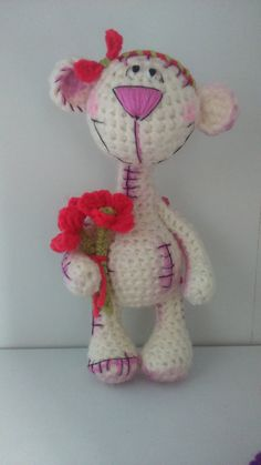 Crochet little teddy bear  pattern PDF document door teddieswithlove