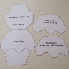 cupcake shape card template