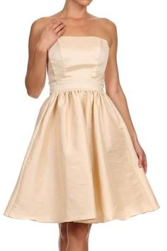 Solid Color Bridesmaid Dress DR1521