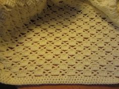 Another baby blanket is complete! This is the third one I've designed this year. I must say I really enjoy creating lacy blanket desi...