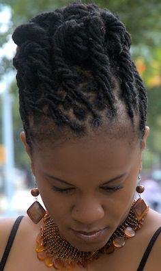 Natural Locs Hairstyle - Top View