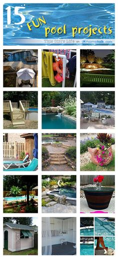 Love to lounge by the pool? These 15 Easy & Fun DIY Pool Projects make the perfect accessories to your outdoor escape!