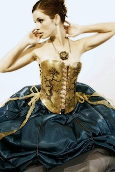 A brass corset does not offer the same shapeenhancing properties of a steel boned and cotton corset, but it is damn cool.