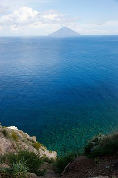 A view of Stromboli from the northern end of Panarea
