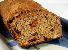 Cherry-Walnut Banana Bread by FatFree Vegan Kitchen. I think I am going to make this tonight, I have some overripe bananas to use up!