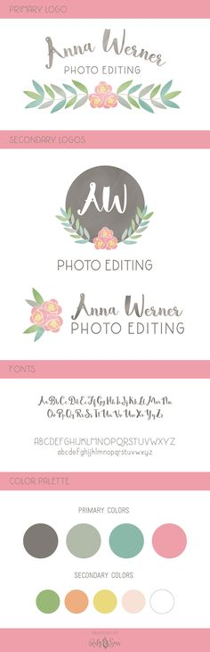 Logo Design  Anna Werner Photo Editor Branding