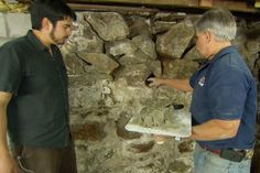 How to Repoint a Stone Foundation This Old House general contractor Tom Silva saves a crumbling mortared-rock foundation wall Basement Repair, Old Basement, Basement Walls, Basement Remodeling, Basement Ideas, Basement Waterproofing, Damp Basement, Basement Laundry, Basement Bathroom