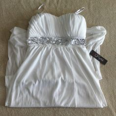 Profile - Long White Dress. Excellent condition. It is 52 long inches & Bust is 29 1/2 inches all around. Profile Dresses