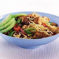 Recept - Eiermie met Thaise kip - Allerhande