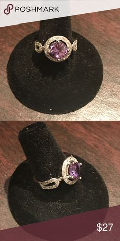 Sterling silver and amethyst ring size 8 Sterling silver and amethyst ring size 8 Jewelry Rings