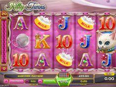 Jetzt spielen kostenlos Spielautomat Kitty Twins - http://spielautomaten7.com/kitty-twins/