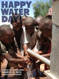 It's World Water Day today!  Please consider making a donation to a charity like water.org to help people get clean water.
