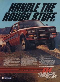 1984 Datsun Nissan 4 x 4 Truck Ad Vintage 4WD by AdVintageCom