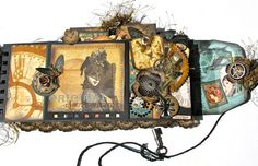With A Grin: Graphic 45 Steampunk Debutante Policy Mini Album (Bluemoon DT Project) — gorgeous!