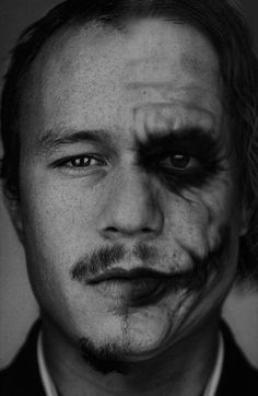 Ledger's Joker....an ode to all those out there....mourning the loss of an amazing actor....we will miss his maniacal cackle, his impeccable jousting skills, and much more. We love you heath.