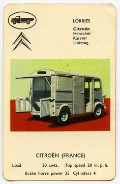 Citroën H-van  From a sixties set of playing cards in my collection.