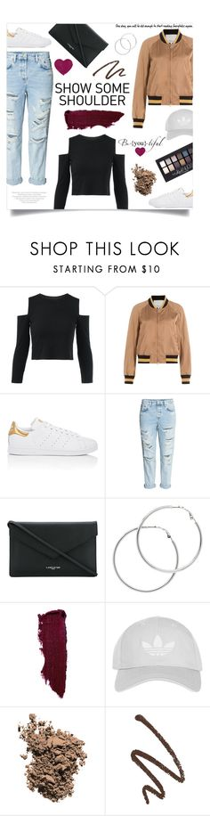 """Bomber Jackets & Ripped Jeans Kinda Day"" by weerala ❤ liked on Polyvore featuring 3.1 Phillip Lim, adidas, H&M, Lancaster, Maybelline, Melissa Odabash, Topshop, Dolce&Gabbana, denim and casualoutfit"