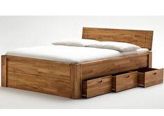 Massivholzbett Elena in 180x200cm aus massiver Wildeiche. Inkl. 6 Schubladen und Komforthöhe. Ein Bett aus massiver Eiche mit vielen Extras und großem Komfort für ihr neues Schlafzimmer. Das Bett wird aus hochwertiger Eiche – Wildeiche gefertigt. Die Oberfläche ist geölt. Die 6 großen Schubladen sorgen für viel Stauraum. Das Bett ist sehr stabil gebaut und …