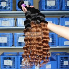 Ay Hair Wholesale Extensions Deep Wave Ombre 2 Tone 1B/30# Virgin Human Hair Weft bundle – Wholesale Hair Weave Factory