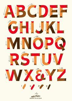 Single-Stroke-Lettering How-To-Poster Siebdruck Poster von Mike Meyer und Otto Baum