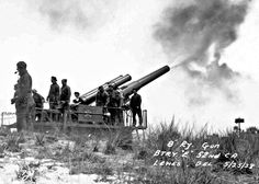 8-inch Gun in Action During WWII at Fort Miles, Cape Henlopen