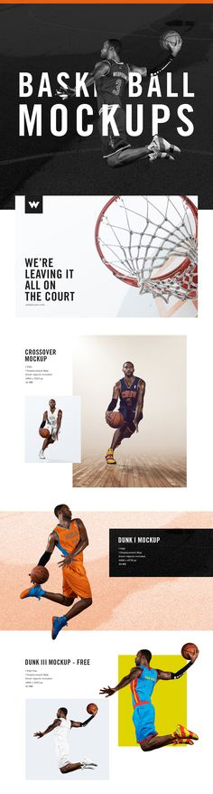 NBA Basketball Mockup Templates - FREE PSD Download on Behance