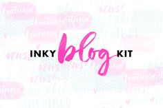 Inky Blog Kit by Molly Jacques on @creativemarket