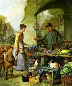 Henry Charles Bryant - At the market