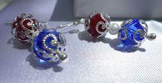 Fourth of July Glass Drop Handmade Jewelry by 1NativeDezines, $24.00