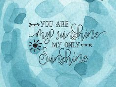 you are my sunshine svg - clipart - svg png jpg eps - commerical use - silhouette- cricut - vinyl - decal - cutting file - sunshine svg by LDKreactions on Etsy