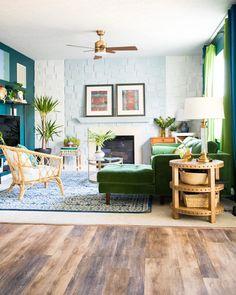 Grass Green Sven Velvet Walnut Right Sectional Sofa | Article