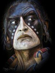 Blackfoot Indian by Nancy Harris Imposing!