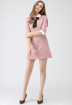 Knock on Your Heart Diamond Bowknot Tweed Dress - Retro, Indie and Unique Fashion Source by Fashion outfits Girly Girl Outfits, Preppy Outfits, Mode Outfits, Preppy Style, Classy Outfits, Queen Fashion, Look Fashion, Unique Fashion, Chanel Fashion