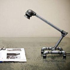 lampara de mesa tubos