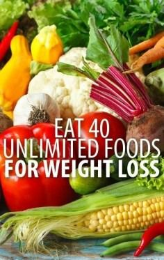 Eat 40 Unlimited Foods For Weight Loss – Find out what foods are perfect to eat when trying to lose weight (hint: all kinds of nuts). This is a helpful tool to keep on hand.